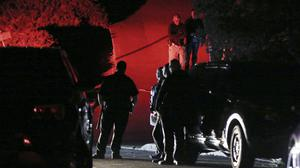 The scene after a multiple shooting on Halloween at an Airbnb rental home in Orinda, California (Ray Chavez/East Bay Times via AP)