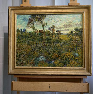 Sunset at Montmajour by Vincent van Gogh, the first full size canvas that has been found since 1928 (AP)