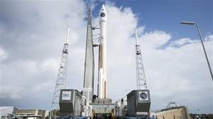 A rocket with Nasa's Magnetospheric Multiscale spacecraft onboard is rolled out to the launch pad in Cape Canaveral, Florida (AP/Nasa)