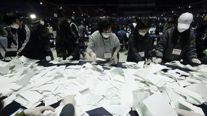 South Korea's parliamentary elections have been won by the ruling party (Ahn Young-joon/AP)