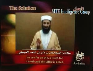 Video grab showing Osama bin Laden (SITE Intelligence Group/PA)