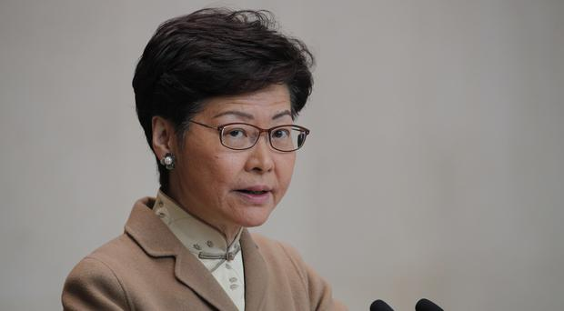 Hong Kong Chief Executive Carrie Lam. Hong Kong has been wracked by often violent anti-government protests since June (Andy Wong/AP)