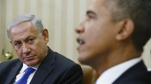 Barack Obama and Benjamin Netanyahu at the White House in September 2013 (AP)