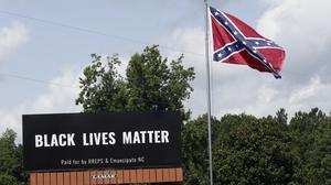 The Confederate flag is not among the types of flags that may be displayed at military installations (Gerry Broome/AP)