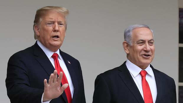 Donald Trump (left) and Benjamin Netanyahu are to meet in the White House (Manuel Balce Ceneta/AP/PA)