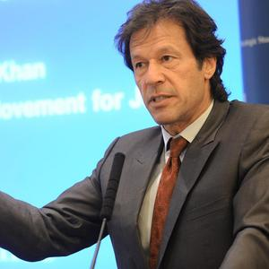 Imran Khan fractured three vertebrae and a rib when he fell 15 feet from a forklift truck at a campaign event in Lahore