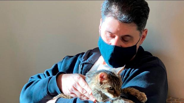 Owner Charles and Brandy have been reunited (Los Angeles County Department of Animal Care and Control via AP)