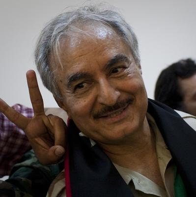 Rebel commander Khalifa Hifter has called for the country's parliament and government to be suspended (AP)