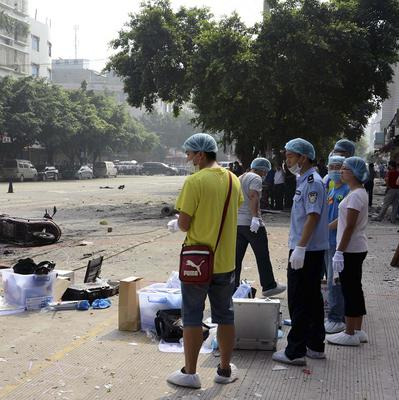 An explosion outside Balijie Primary School in China's Guangxi Zhuang Autonomous Region killed at least two people (AP)