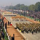 The Republic Day parade marches through Rajpath, the ceremonial boulevard in New Delhi (Manish Swarup/AP/PA)