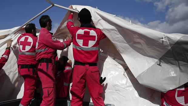 The Red Cross said it will need 1 billion pounds to fund its operations next year