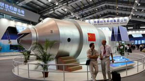 A model of China's Tiangong-1 space station (Kin Cheung/AP)