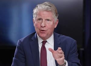 Manhattan District Attorney Cyrus Vance Jr has requested eight years of Mr Trump's personal and corporate tax records (Frank Franklin/AP)