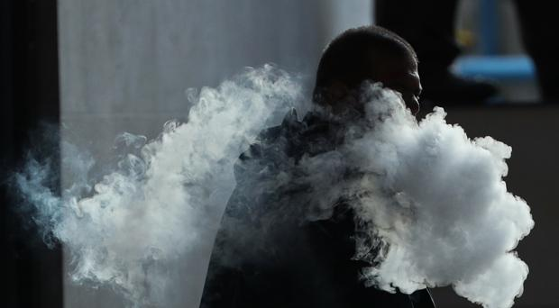 The vapour cloud produced by a man with an e-cigarette (Yui Mok/PA)