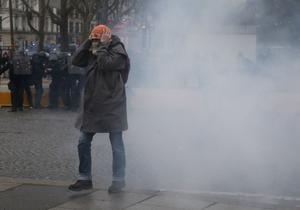 It was the 11th weekend of protests in a row in France (Michel Euler/AP)