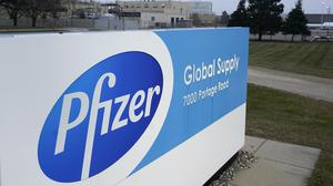 The Pfizer Global Supply manufacturing plant in Portage, Michigan. The US has given the final go-ahead to the nation's first Covid-19 vaccine (Paul Sancya/AP)