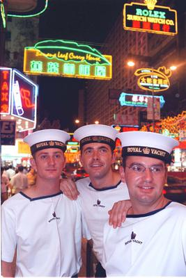 File photo of British sailors in Hong Kong shortly before the 1997 handover (PA)