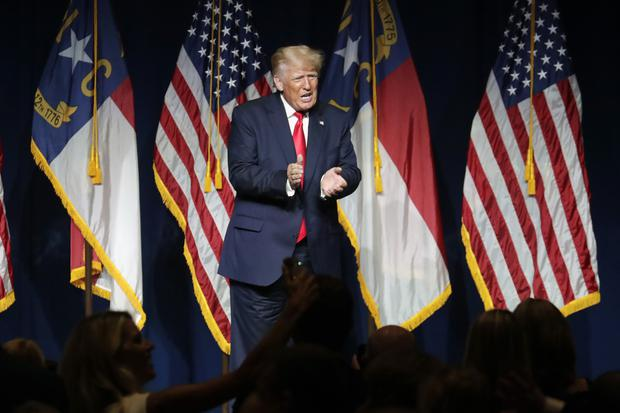 Mr Trump's advisers are eyeing further appearances ahead of the 2022 midterm elections (Chris Seward/AP)
