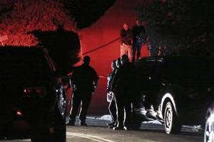 Authorities investigate a multiple shooting on Halloween at an Airbnb rental home in Orinda, California, in 2019 (Ray Chavez/East Bay Times via AP)