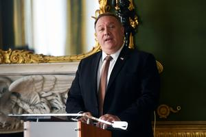 United States Secretary of State Mike Pompeo was speaking in London (Peter Summers/PA)