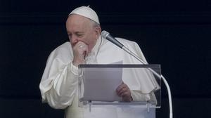 The Pope paused to cough during his address last Sunday (Andrew Medichini/AP