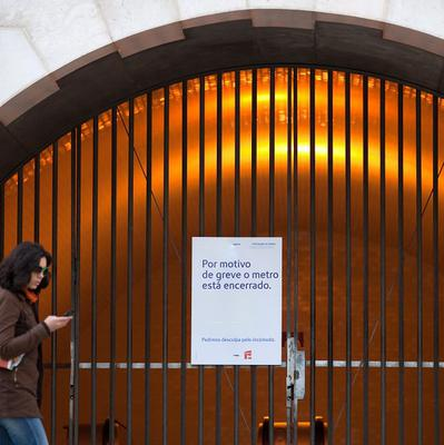 Portuguese postal workers are starting the first of a series of strikes by labour groups angry about austerity measures