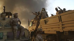 Iraqi forces push forward during the offensive to retake Mosul (AP)