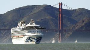 The Grand Princess cruise ship is currently off San Francisco (Scott Strazzante/San Francisco Chronicle/AP)