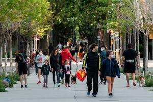 Children on the streets of Barcelona