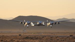 VSS Unity was previously tested in Mojave, California (Virgin Galactic/AP)