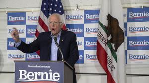 Bernie Sanders has condemned Russian interference in US elections (Damian Dovarganes/AP)
