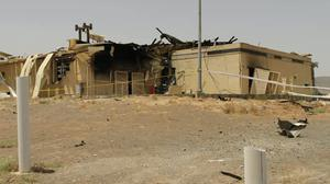 A building after it was damaged by a fire, at the Natanz uranium enrichment facility (Atomic Energy Organisation of Iran/AP)