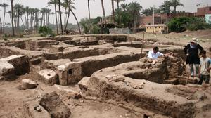 A large Roman bath and chamber (Egyptian Ministry of Antiquities via AP)