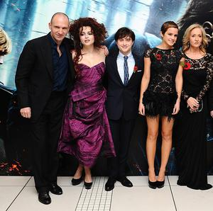 Cast members and writer JK Rowling at the premiere of Harry Potter And The Deathly Hallows: Part One in London