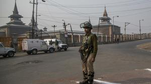 Soldier in Indian-controlled Kashmir