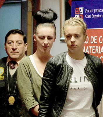 Michaella McCollum and Melissa Reid in a court appearance in Lima in 2013
