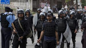 Police in Pakistan said 20 people have been murdered at a shrine in Punjab province (B.K. Bangash/AP)