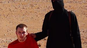 Footage of a militant apparently threatening to kill Peter Kassig emerged last month (AP)