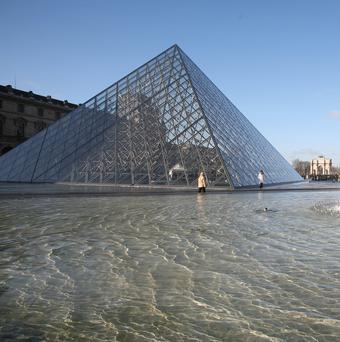 A Eugene Delacroix canvas was defaced in an extension to the Louvre