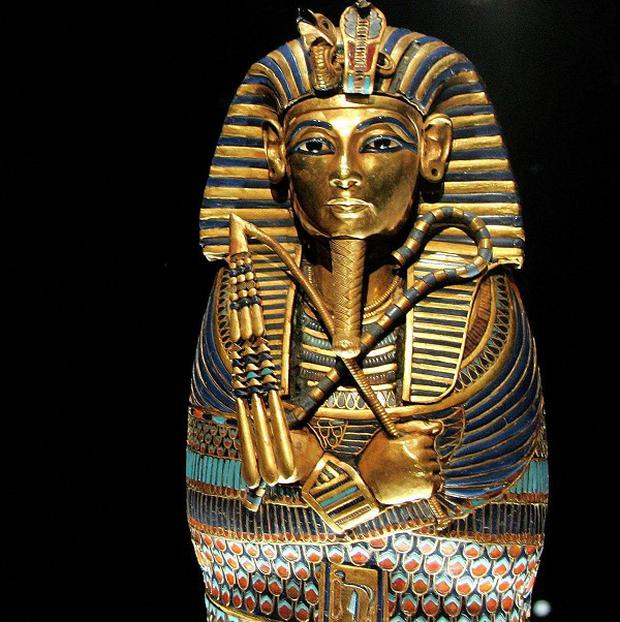 The canopic coffinette of ancient pharoah Tutankhamun (PA)