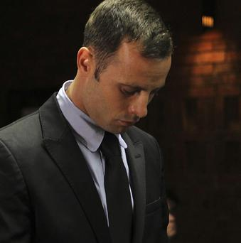Olympic athlete Oscar Pistorius appears in court in Pretoria, South Africa (AP)