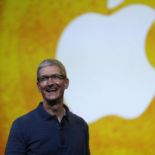 Apple CEO Tim Cook promised the company had 'some great stuff coming' as he addressed shareholders (AP)