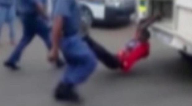 Video footage showed immigrant taxi driver Mido Macia being dragged behind a police van