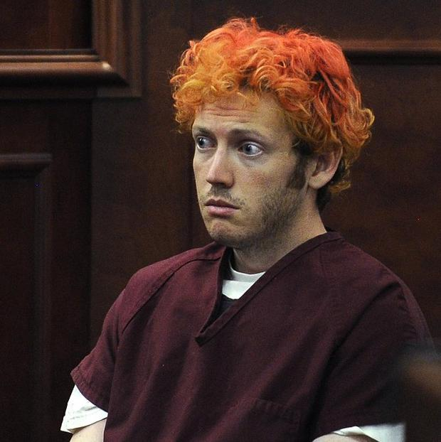James Holmes appears in Arapahoe County District Court in Centennial, Colorado (AP)