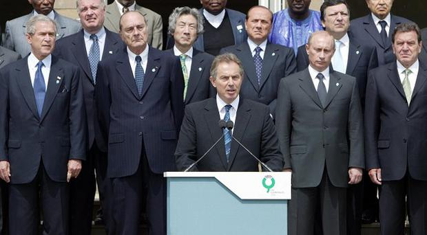 Britain hosted the G8 at Gleneagles in 2005, when Tony Blair was Prime Minister