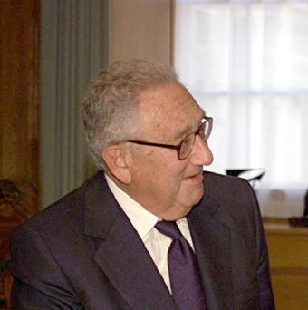 Former US secretary of state Henry Kissinger was admitted to hospital after a fall