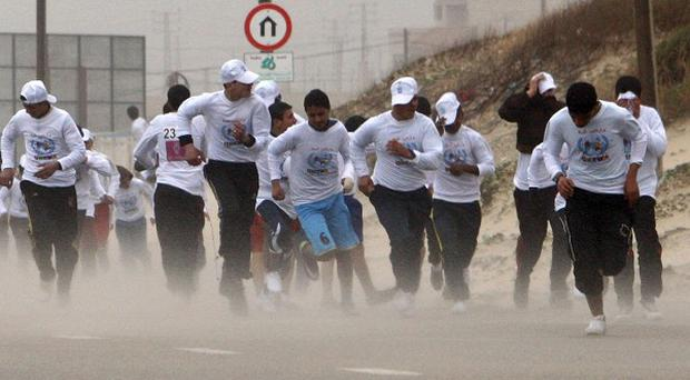 The Gaza marathon was initially organised to draw attention to the territory (AP)