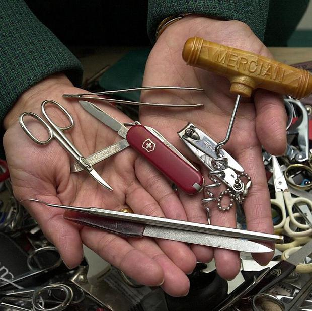 Passengers on US planes can now carry penknives, corkscrews with small blades and other knives