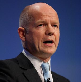 Foreign Secretary William Hague said the number of refugees fleeing Syria had reached a 'sad milestone'