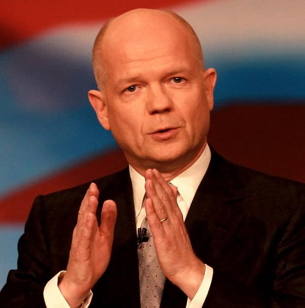 William Hague says the United Nations is poised to take action over Yemen
